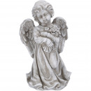 Poly Angel Farlas with bouquet of roses, H44cm, gr
